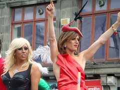 """Dublin Pride"" Parade (jackace) Tags: ireland dublin tranny transvestite adamsapple gayprideparade oconnellstreet thegeorge"