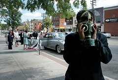 "An Alternate Ending To ""The Graduate"" (dzgnboy) Tags: wedding toronto stclair westmount scream gasmask munch myeverydaylife dzgnboy stclarechurch samstoronto utata:project=tableau img0331a"