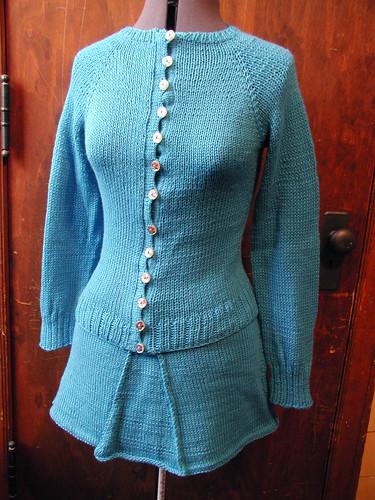 schoolgirl skirt: 163g schoolgirl cardi: 240g