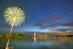 sylvan lake fireworks (gsgeorge) Tags: longexposure sunset summer lake america freedom twilight fireworks dusk michigan fourthofjuly sylvanlake 4thofjuly independenceday coolest peopleschoice westbloomfield metrodetroit nothdr keegoharbor sylvanlakemichigan happyfourthofjulyflickr sylvanlakemi