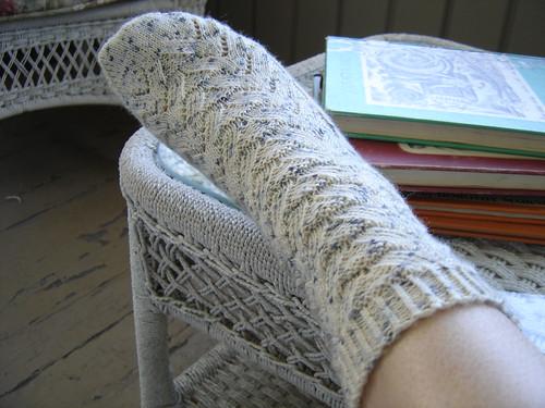 Değişik Desenlerde Örgü Çoraplar