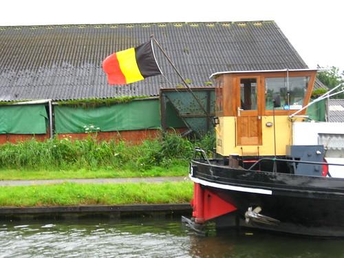 Boat on the Dessel-Schoten Canal, Belgium