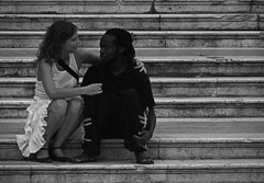 coexistence b&w (_tonidelong) Tags: people bw españa white black love byn blanco spain couple y negro andalucia bn lovers granada