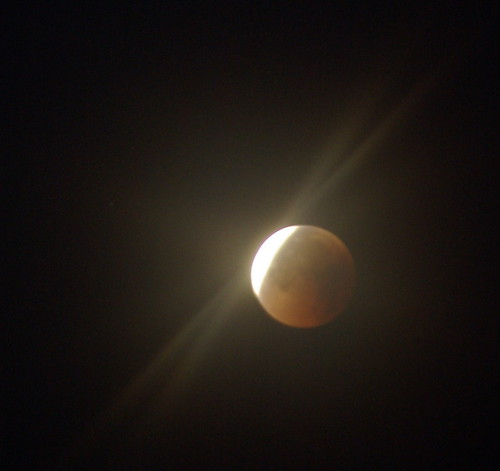 Lunar Eclipse with Flare