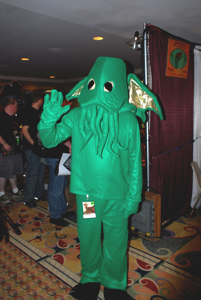 verde disfraz de Cthulhu
