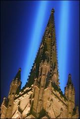 Trinity (Linus Gelber) Tags: nyc newyork church inmemory memorial worldtradecenter 911 broadway spire trinitychurch twintowers sept11 september11 wallstreet tributeinlight september11th remembering 911memorial richardupjohn