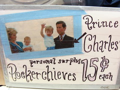 Prince Charles' personal surplus pockerchieves.