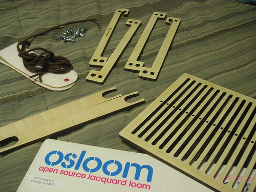 Laser-cut backstrap loom from OSLoom