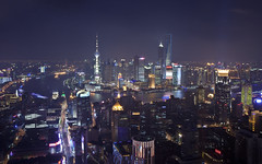 Shanghai at Night (Sarmu) Tags: china city light wallpaper urban building skyline architecture night skyscraper river lights highresolution downtown cityscape view skyscrapers shanghai nightshot widescreen landmark icon 1600 highdefinition resolution 1200 cbd hd wallpapers   pudong iconic   bund jinmao 1920 jinmaotower vantage shimao 2010 pearltower vantagepoint ws thebund orientalpearltower 1080 1050   720p lujiazui 1080p swfc urbanity huangpuriver 1680 720    2560 shanghaiworldfinancialcenter    shimaointernationalplaza sarmu leroyalmeridienshanghai 789nanjinglubar