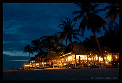 Evening at Perhentian Besar (papaija2008) Tags: travel blue light sky beach nature silhouette night digital canon dark landscape island eos rebel evening asia dusk south low palm east malaysia tamron perhentian breathtaking pulau bungalow besar 2875mm xti 400d platinumheartaward earthasia breathtakinggoldaward doublyniceshot breathtakinghalloffame tripleniceshot artistoftheyearlevel4