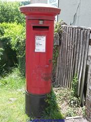 Temple Ewell - Post Box CT14 105 (Faversham 2009) Tags: architecture buildings kent post box pillar postoffice royalmail dover templeewell ct14105