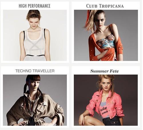 Moda mujer verano 2010, tienda online Top Shop