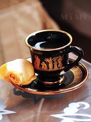 (M ï M ï) Tags: flower cup coffee table gold u miss yallow ف متى لي ؟ بين وقت غيابك الشوق الرجوع ابكي اتعبني الدموع كثير الضلوع mïmï وتسألني