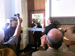 Mayor Nutter ribbon cutting at the opening reception for The Art Gallery At City Hall