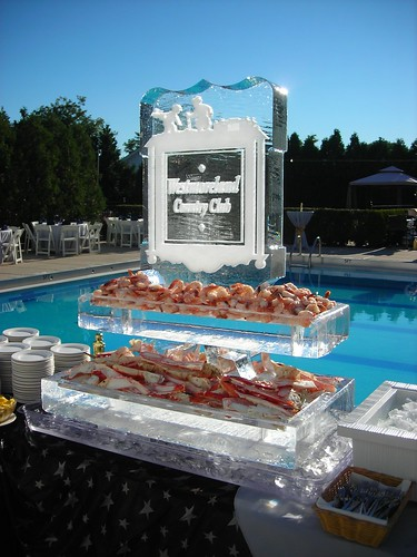 Westmoreland Seafood Station ice sculpture