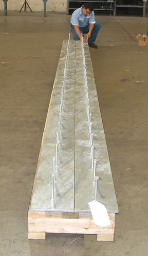 "Two 240"" x 12"" x 1/2"" Embed Plates for a Concrete Reinforcement Application"