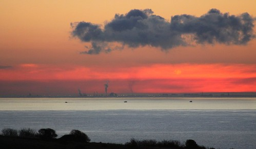 Calais and The Channel at Dawn