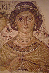 Fragment of a Floor Mosaic with a Personification of Ktisis Byzantine 500-550 CE (2) (mharrsch) Tags: woman newyork glass tile floor mosaic jewels byzantine metropolitanmuseumofart 6thcenturyce ktisis mharrsch