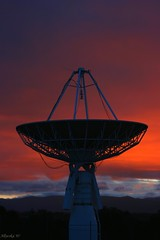 UC satelite 14/6/07 (Allyeska) Tags: sunset sky orange clouds university dish satellite canberra universityofcanberra canberrasunset canberrasunsets auselite