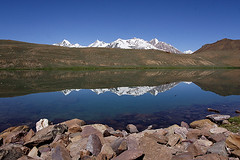Chandratal Lake at Lahaul and Spiti, Himachal Pradesh (arunchs) Tags: lake mountains himachal himalayas spiti pradesh chandratal lahaul