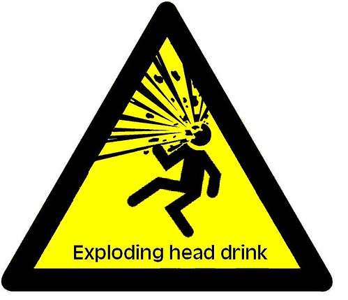 Exploding head drink