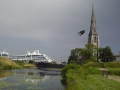 En svale i fuld fart (Rasmus Lund) Tags: kastellet svale krydstogtskib denengelskekirke