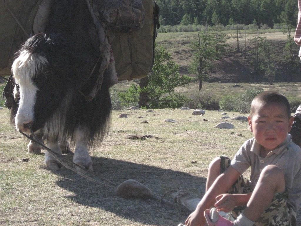 Mongolian Kid and Friend