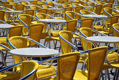 feel the summer (Vulk.an) Tags: plaza venice summer italy color colors yellow square table interestingness italia estate chairs explore giallo piazza venezia sedie sanmarco tavoli top20colorpix savevulkan