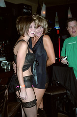 2027_32d (Tempe Photo Dave) Tags: girls black smile fashion legs boobs bra smiles lingerie nightclub scottsdale cleavage fashionshow miniskirt wristband leggings shortdress blackminiskirt shortblackdress stalkkings