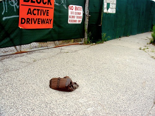 Abandoned bag near the Gowanus canal