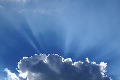 Rays in the Sky (Jan Meeus) Tags: blue light sky sun white nature rays