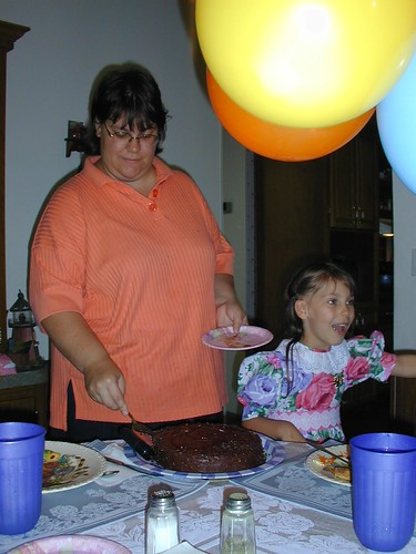 Mommy Cuts the Cake