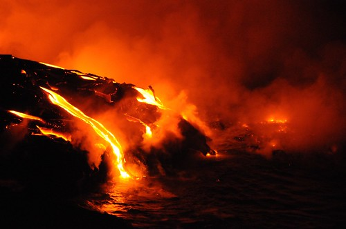 Lava Flow on Island of Hawaii