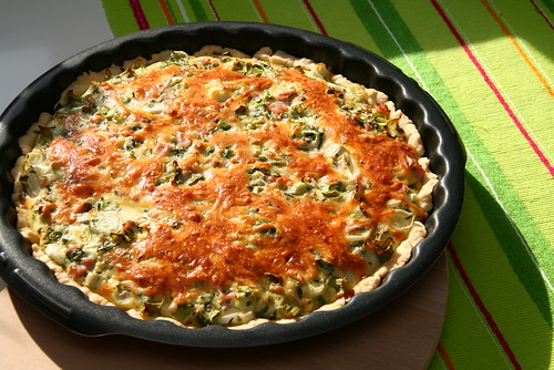 Ham Quiche with Herbs & Spring Onions