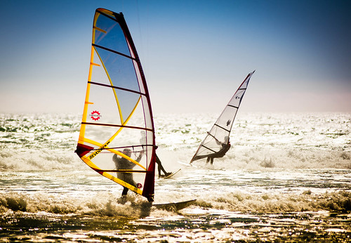 [Free Image] Exercise/Sport, Water Sports, Windsurfing, 201006121300