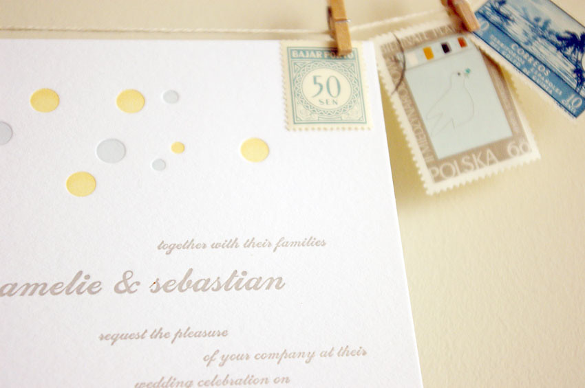 snap & tumble wedding line: the polka dots
