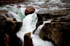 Sunwapta Falls (Shauna Stanyer (Northern Pixel)) Tags: park mountain canada mountains water canon river rockies eos waterfall stream rocky canadian falls clear national alberta 7d banff efs sunwapta 1585mm