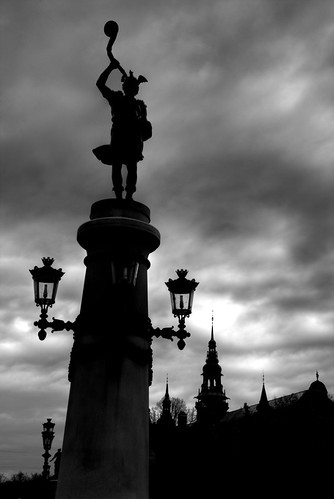 Heimdall silhouette. Stockholm. Silueta de Heimdall. Estocolmo