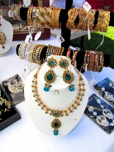 Sawan Mela South Asian Summer Festival, Indian jewelry at the marketplace