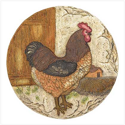 38806 Jaunty Rooster Stepping Stone $9.95