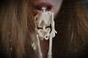 Skeletonmouth (Rosa sings the blues) Tags: girl face mouth hair skeleton skinny lips ribs anorexia boney eatingdisorder