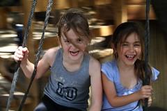 Sheer joy (Gaby.Bernstein) Tags: girls friends portrait girl face kids female portraits fun kid gaby faces joy swing females bernstein bernsteingaby gabybernstein