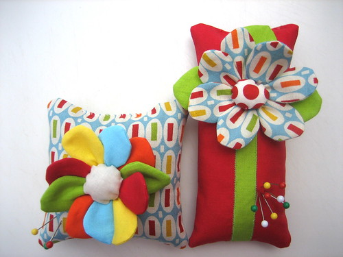 Peas and Carrots Pincushions