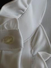 Mardi Modes of New York White Pleated & Ruffled Blouse Collar & Placket (mondas66) Tags: newyork ruffles ascot blouse romantic elegant ornate frilly elegance pleated jabot ruffle blouses frills frill ruffled frilled frilling frillings befrilled mardimodes