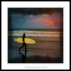 Surfer / Surfing / Sunset / Ocean / Alone / Texture / Water / Waves / Clouds / Kyle Bailey / Canon (Kyle Bailey - Da Big Cheeze) Tags: sunset oregon square surf waves surfer surfing wetsuit canonbeach borderfx kylebailey rookiephoto dabigcheeze wwwrookiephotocom