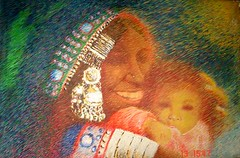 Me & Kaka (Shubnum Gill) Tags: woman baby india art love painting women asia delhi indian canvas painter oil potrait gill newdelhi shubnum yourmasterpaintings shubnumgill wwwshubnumgillcom