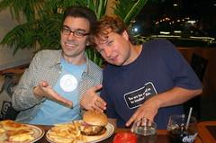 Derek, Johan, and Denny's Full House Burger