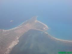 Vue aérienne de Ghar El Melh (située à gauche de la lagune)