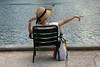 Paris, Jardin des Tuileries (Calinore) Tags: street city paris france femme jardin chapeau tuileries soir fontaine iledefrance parc ville orage idf tourisme ambiance touriste japonaise selectionneespargetty