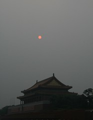 The sun over the Forbidden City